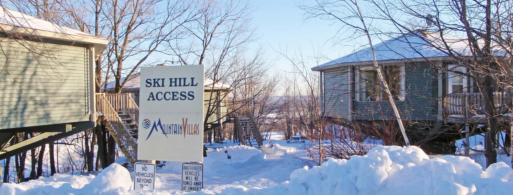 A ski hill access location at Mountain Villas